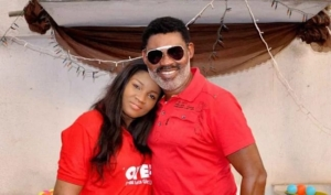 Omotola Jalade-Ekeinde and husband, Captain Matthew Ekeinde jnr