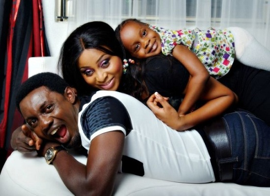 Ay and his lovely wife and daughter