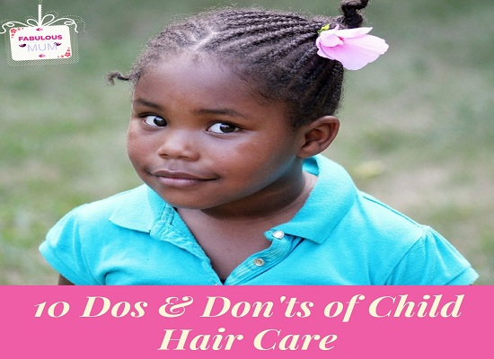 Black african girl with natural hair. child hair care