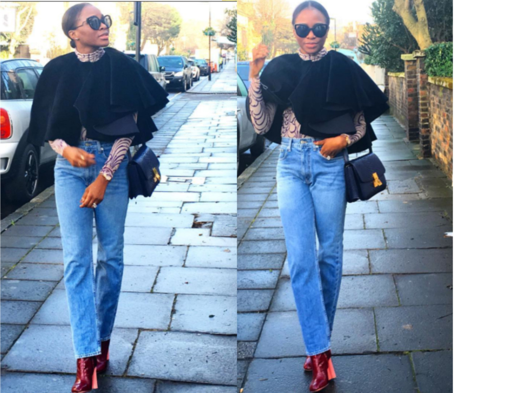 Lisa Folawiyo, mom jeans, cape, fashion designer