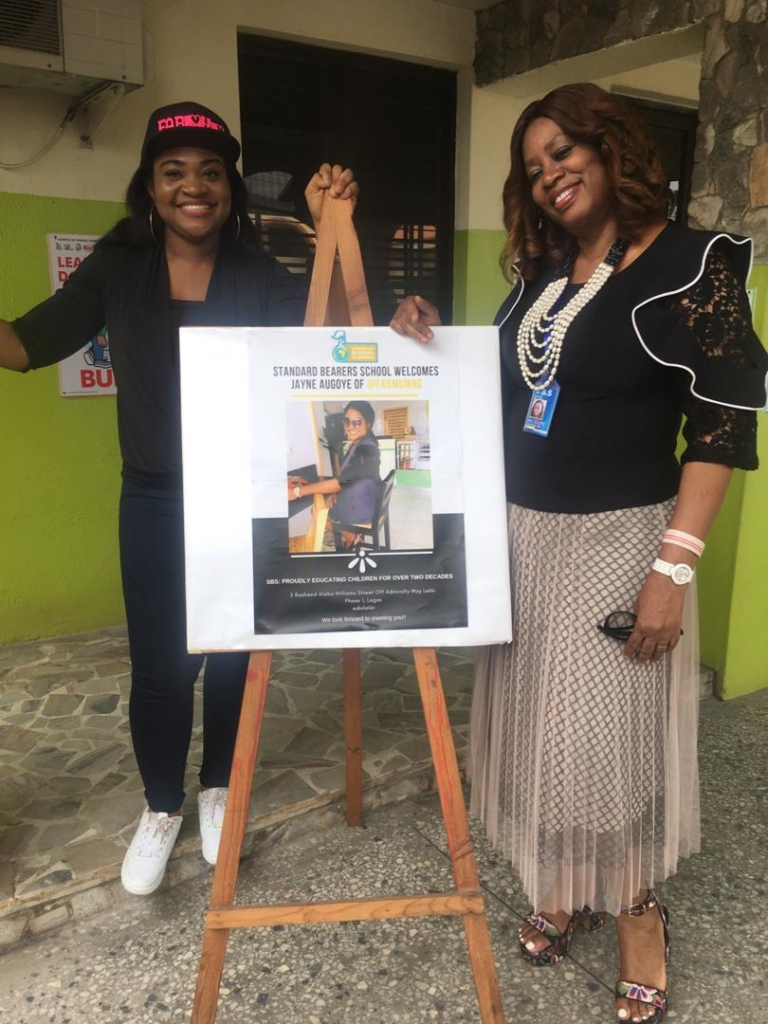 Fabmumng Founder, Jayne Augoye and Founder of Standard Bearers School,Mrs. Adeyinka-Oni