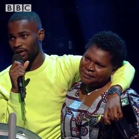 2019 Mercury Prize winner, Dave real names David Orobosa Omoregie and mum Photo by BBC