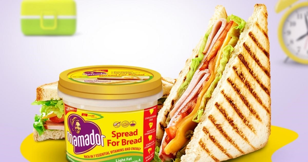 Mamador Light Fat Spread. Healthy Breakfast